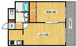 高師浜シーサイドマンション3[101号室]の間取り