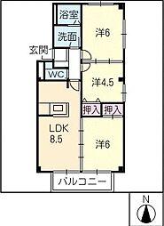 ハレマハロ A棟[1階]の間取り