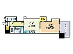 レジディア博多[14階]の間取り