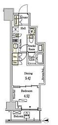 東京メトロ半蔵門線 半蔵門駅 徒歩10分の賃貸マンション 2階1DKの間取り