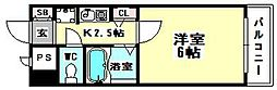 エスティライフ梅田新道[5階]の間取り