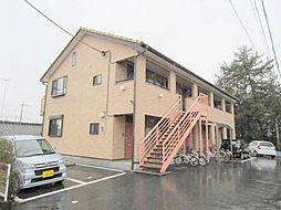 山梨県甲府市下飯田2丁目の賃貸アパートの外観
