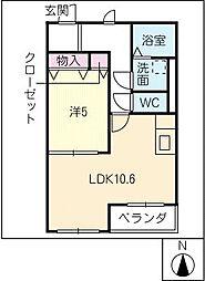 ベルコート[2階]の間取り