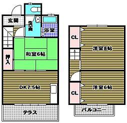 ハイツニシウラ[2階]の間取り