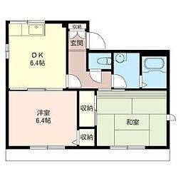 シャトレKOMATSU[1階]の間取り