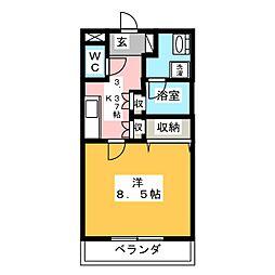 ベリーナ文京[2階]の間取り
