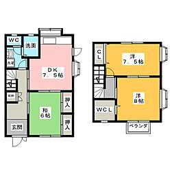 [テラスハウス] 三重県伊賀市上野愛宕町 の賃貸【/】の間取り