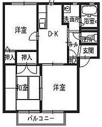 オンス小垣内B[1階]の間取り
