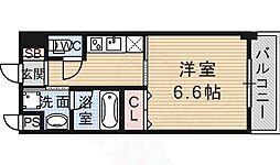 キセラコートWAKO 3階1Kの間取り