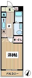 東京都清瀬市中里1丁目の賃貸マンションの間取り