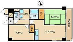 兵庫県姫路市飯田3丁目の賃貸マンションの間取り