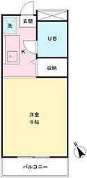 ポナール平方[102号室]の間取り