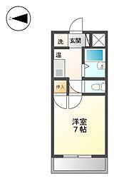 エスポワール名古屋[4階]の間取り