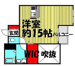 リバープレイス梅田北[9階]の間取り