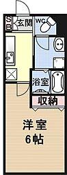 四ノ宮コート[202号室号室]の間取り
