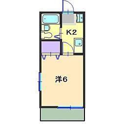 第八グリ−ンコ−ポ[201号室]の間取り
