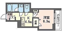 JR京浜東北・根岸線 南浦和駅 徒歩4分の賃貸マンション 1階1Kの間取り