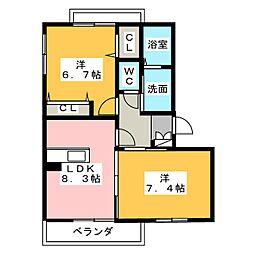 MS レジデンス[3階]の間取り