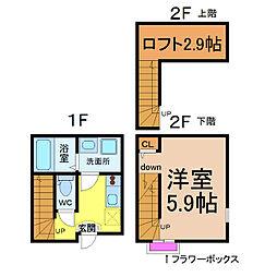 CASA名駅西(カーサ名駅西)[106号室]の間取り