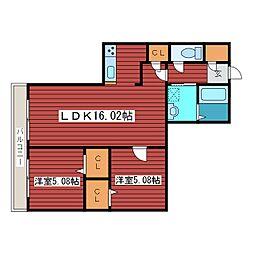 Domeside福住[2階]の間取り