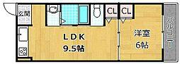 シャンテー御殿山[5階]の間取り