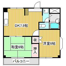 愛知県名古屋市中川区服部3丁目の賃貸マンションの間取り