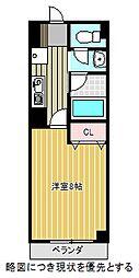 愛知県名古屋市千種区稲舟通1丁目の賃貸アパートの間取り