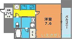 アドバンス神戸アルティス[13階]の間取り