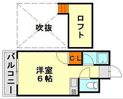 エスポワール60[1階]の間取り