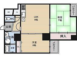 第2アーバンス新大阪[7階]の間取り