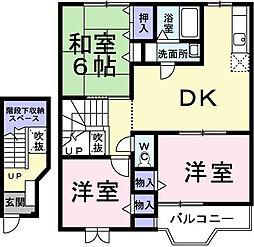 サンライズ渋沢2[202号室]の間取り