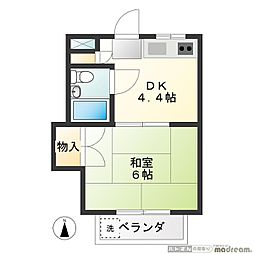 大鈴マンション[203号室]の間取り
