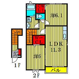 ヴィーナスホープ[2階]の間取り