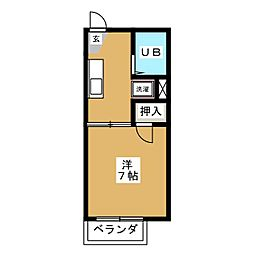 浜田グリーンパレス    0700350[2階]の間取り