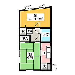 ブルーハーブ[3階]の間取り