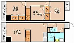 ホワイトアベニュー筥松[2階]の間取り