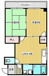 ハイツタムラ[402号室]の間取り