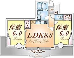 兵庫県神戸市長田区東尻池町2丁目の賃貸マンションの間取り