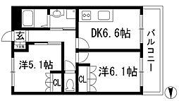 ラークハイム[2階]の間取り