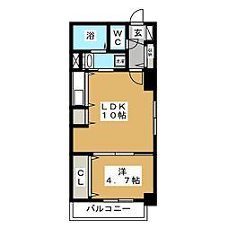ブランノワールN13.exe[9階]の間取り