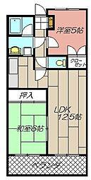 ハーモナイズ361[305号室]の間取り