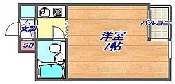 ダンディライオン石屋川[207号室]の間取り