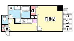 アドバンス三宮2ライズ[601号室]の間取り