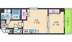 クリア天王寺東[2階]の間取り