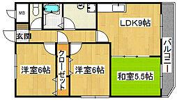 ラプラス住道[4階]の間取り
