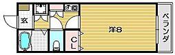 ヴィユーフルーヴII[103号室]の間取り
