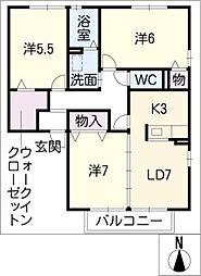 マロンベルB棟[2階]の間取り