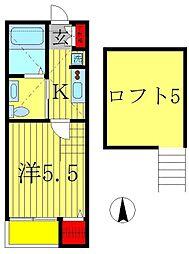 コンフォートメゾン東平賀[1階]の間取り