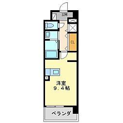 クラシェス尼崎[8階]の間取り