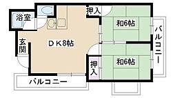 三井マンション[201号室]の間取り